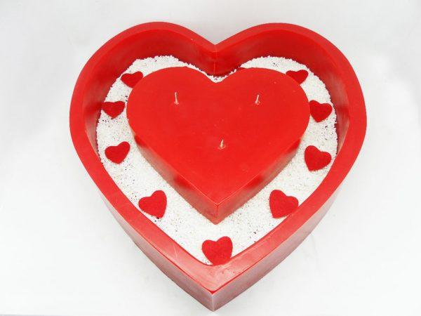 33 cm İçi Boş Kalp Mum