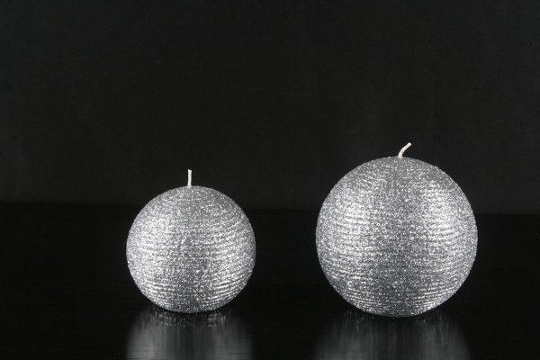 Gümüş Simli Top Mumlar