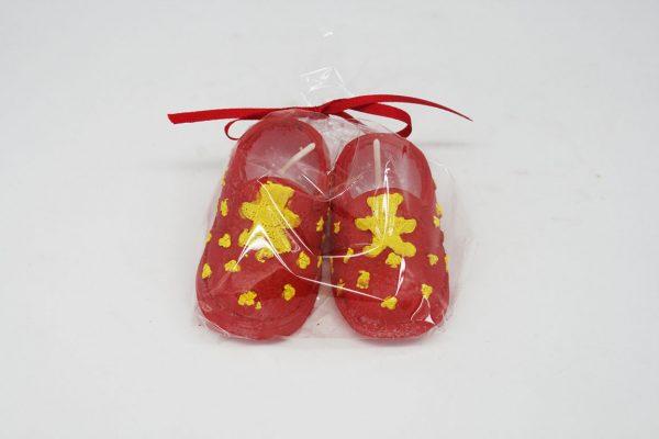 Sarı Kırmızı Patik Mum